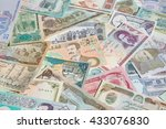 variety of middle east banknotes | Shutterstock . vector #433076830