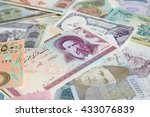 variety of middle east banknotes | Shutterstock . vector #433076839