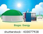 vector illustration of biogas... | Shutterstock .eps vector #433077928
