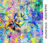 festive colors. squares ... | Shutterstock .eps vector #433078990