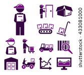 supply chain icon set | Shutterstock .eps vector #433081000