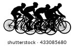group of bicyclists in race... | Shutterstock .eps vector #433085680