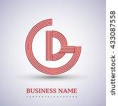 letter gd or dg linked logo... | Shutterstock .eps vector #433087558