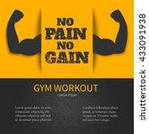 gym workout design template... | Shutterstock .eps vector #433091938