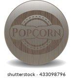 popcorn badge with wood... | Shutterstock .eps vector #433098796