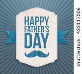 happy fathers day banner with... | Shutterstock .eps vector #433117006