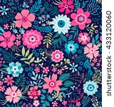 Cute pattern in small flower. Small colorful flowers. White background. Ditsy floral background. The elegant the template for fashion prints. | Shutterstock vector #433120060