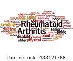 rheumatoid arthritis  word... | Shutterstock . vector #433121788