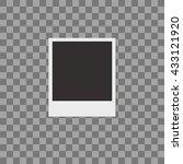 retro photo frame isolated on... | Shutterstock .eps vector #433121920