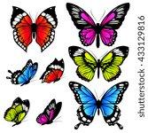 butterflies design | Shutterstock . vector #433129816