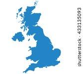 blue map of united kingdom   Shutterstock .eps vector #433135093