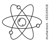 atom with nucleus and electrons.... | Shutterstock .eps vector #433143418