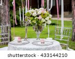 table set for an event party or ... | Shutterstock . vector #433144210