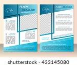 vector flyer template design.... | Shutterstock .eps vector #433145080