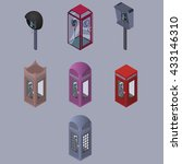 set of telephone box. | Shutterstock .eps vector #433146310