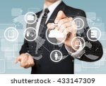 network. | Shutterstock . vector #433147309