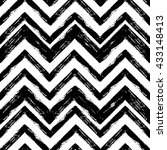 hand drawn black and white ink... | Shutterstock .eps vector #433148413