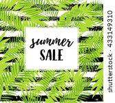 summer sale calligraphic poster ... | Shutterstock .eps vector #433149310