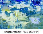 expressive oil painting.... | Shutterstock . vector #433150444