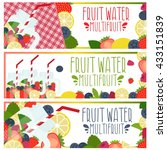set of banners with bright...   Shutterstock .eps vector #433151839