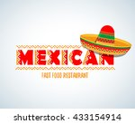 mexican food logo. mexican fast ... | Shutterstock .eps vector #433154914