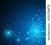 abstract digital pixel linear...   Shutterstock .eps vector #433156873