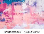 hand drawn oil painting.... | Shutterstock . vector #433159840