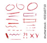 red pencil with hand drawn... | Shutterstock .eps vector #433160710