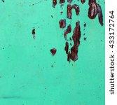 green rusted  metal background | Shutterstock . vector #433172764