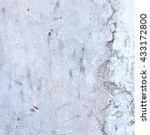 white plaster  wall background | Shutterstock . vector #433172800
