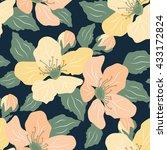 floral seamless pattern.vector... | Shutterstock .eps vector #433172824