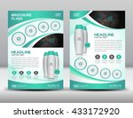 green business brochure flyer...   Shutterstock .eps vector #433172920