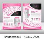 blue business brochure flyer... | Shutterstock .eps vector #433172926