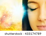 macro close up of young woman... | Shutterstock . vector #433174789