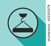 crane hook lifting icon. crane... | Shutterstock .eps vector #433192078
