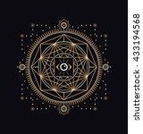 sacred symbols design  ... | Shutterstock .eps vector #433194568