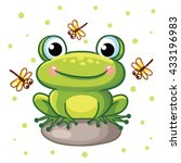 vector illustration of a frog... | Shutterstock .eps vector #433196983