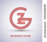 letter gz or zg linked logo...   Shutterstock .eps vector #433206040
