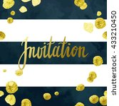 wedding invitation vector... | Shutterstock .eps vector #433210450