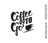 coffee to go sign. vector... | Shutterstock .eps vector #433213153