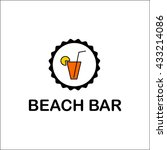 beach bar template | Shutterstock .eps vector #433214086