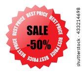 sale sticker isolated on white...   Shutterstock .eps vector #433214698