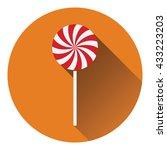 stick candy icon. flat design....