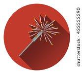 party sparkler icon. flat...