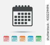 calendar icon. event reminder... | Shutterstock .eps vector #433229494
