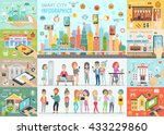 smart city infographic set with ... | Shutterstock .eps vector #433229860