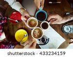 camping coffee break... | Shutterstock . vector #433234159