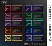 vector infographic design list... | Shutterstock .eps vector #433238824