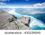 Cliff Preikestolen At Fjord...