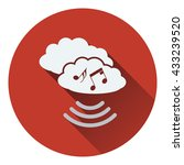 music cloud icon. flat design....